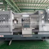 Eight position turret CJK61125B CNC lathe machine with hydraulic chuck and hydraulic tail stock