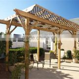 recycled backyard outside hollow composite wood decking wpc decking polycarbonate gazebo