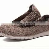 2016 elastic belt hand knit shoes , fashion woven elastic shoes