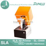 2016 hot sale! 3d printer multiple use desktop 3D SLA Printer for jewelry