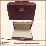logo printed leather jewelry boxes wholesales/vintage leather wine box/handmade brown leather wine box