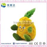 High Quality Safe Funny Fresh Fruit Plush Pineapple Beanbag Children Play Toy