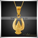 18k Gold Plated Beautiful Bird Shape Owl Pendant Brass Essential Oil Jewelry