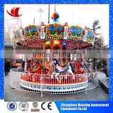 Direct manufacture with 10 years experience in best design used amusement park rides luxury carousel
