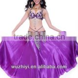 Dancewear Satin Belly Dance Performance Skirt For Ladies 12 Colors