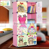 Free Standing cartoon plastic corner bookcase