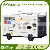 Phonex (China) 4Stroke Air Cooled Single Cylinder 198F Engine 10kva Silent Diesel Generator Price