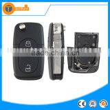 2 butotn key with big battery place and logo flip car key cover shell case fob blank for vw jetta bora polo golf mk4