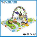 Outdoor baby play mat with baby hanging toys