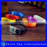 New Edition Silicone Flexible Multicolors Led Bracelet with Sound Activated For Concert/Show
