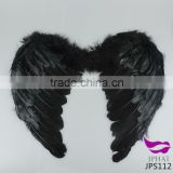 White and black fancy dress fairy feather angel wings