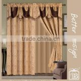 Golden Elegant Living Room Curtain Hometex With Valance