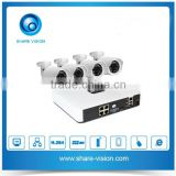 4CH 960p wired poe nvr kit realtime recording & playback nvr with e-cloud & email alert 960p & 720p optional HD ip camera