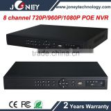 ip camera 8 ch POE Network Video Recorder with cloud, p2p, onvif