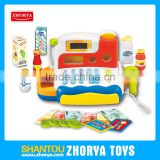 Electric pretend toys cash register Plastic BO battery cash register for kids educational toys