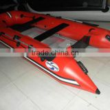 "9'6""4 persons folding inflatable boat fishing kayak fishing dinghy"
