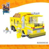 Cheap utility engineering vehicle plastic intelligent building blocks children toys wholesale