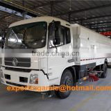 China factory sale 4x2 left hand drive 10tons dongfeng euro4 sweeper truck