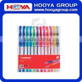 Hot Wholesales 12colors/pvc bag Gel ink pen for office school Promotion