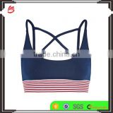 High impact custom blank wholesale sports bra Outdoor Compression Sports Top Women Jogging Bra