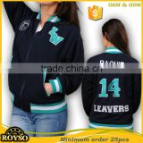 Customize Custom Ladies Cheap American Bomber Letterman Latest Girl High School Uniforms Baseball Winter College Varsity Jacket