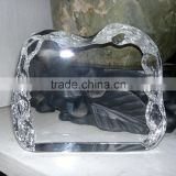 Wholesale good k9 crystal iceberg awards, crystal iceberg trophy for souvenir gift JKC-0138