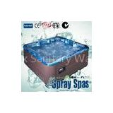 Massage outdoor 4 seats and 2 lounges acrylic hot tub with balboa GS510SZ control system