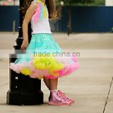 Colorful little girl fluffy pettiskirt wholesale ballet skirts chiffon dress toddle belly dance skirt pettiskirt