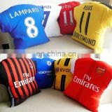 Custom football club fans Jersey pillow soccer star polo pillow cover airplane hold pillow case
