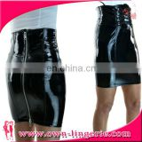 high quality Leather mini Skirt,china wholesale accessory black zipper back slim Leather mini Skirt