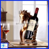 resin Horse bust wine bottle holder statues, figurine for home decor