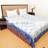 Indian Latest Bedspread King Size Hand Block Printed Cotton Blanket Decorative Bedding 267 X 230 CM