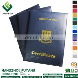 PU decorative metal corner diploma cover