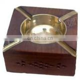 SQUARE SHAPE WOODEN ASHTRAY HOUSE CAR CIGRATTE GIFT