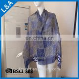 Men's Blue Rayon Scarves
