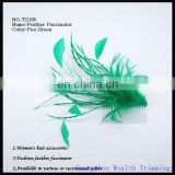 mint fashion feather hairclip