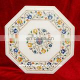 Marble Pietra Dura Table Top, Stone Inlay Table Top, Marble Coffee Table Top