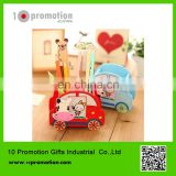 Wooden creative stationery pencial vase/cartoon cute animal for children study