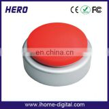 OEM logo printing funny sound box heart recorder for children