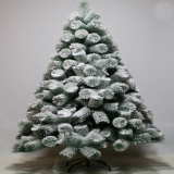 High-grade artificial PET flocking pine needle tree christmas snow tree for outdoor decoration