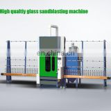 Automatic/Manual Vertical Glass Sandblasting and engraving Machine Price/ glass frosting machine manual with dust removing