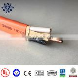 Solid 14/2AWG with ground wire size 14AWG uncoated copperconductor PVC insulation and sheath type NM-B cable