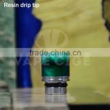 Fast delivery !!! vapecige newest resin drip tip , epoxy resin drip tip , drip tip wholesale factory
