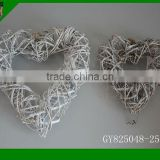 2015 set of 2 heart shape natural material wreath for Christmas decorative