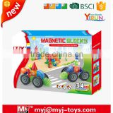 34 pcs Educational magic Magnet block tube toys Building Block hot sale made in Shantou JM024678