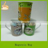 ceramic tea mug with full printing, promotional item with bird design, ceramic souvenirs