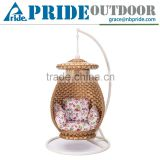 Chinese Style New Design With Canopy Rattan Indoor Home Indian Swing Jula /Swing                                                                         Quality Choice