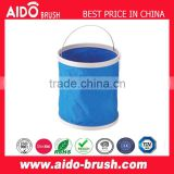 Folding Bucket Car Wash Portable Fishing Bucket Washing Bucket Retractable Car Wash Canvas Supplies Blue