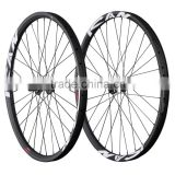2015 All mountain carbon wheels 29er mtb carbon wheelset 35mm clincher tubeless ready hookless mtb wheels