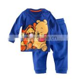 Funny cartoon honey bear kids pijamas Accept wholesale and customize boutique child outfit blue cute children pajamas                                                                         Quality Choice